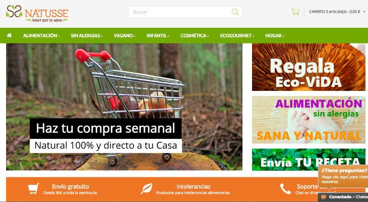 Natusse, tienda online de productos ecológicos