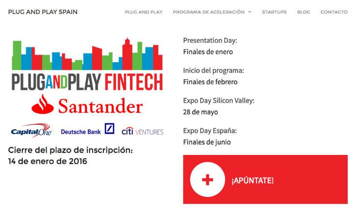 La aceleradora Fintech de Plug and Play y Santander