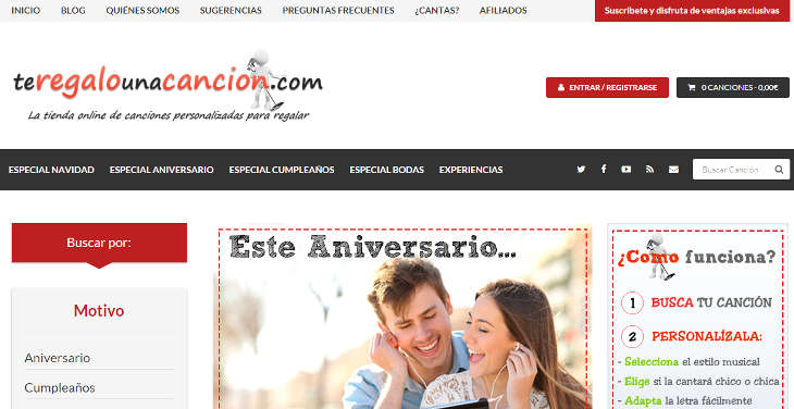 TeRegaloUnaCancion .com, un regalo diferente para estas fechas