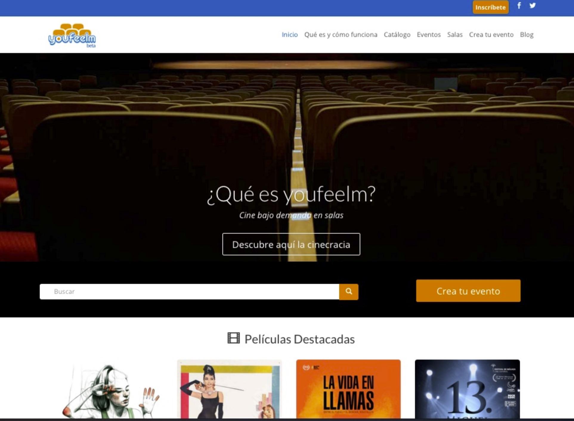 Youfeelm, cine bajo demanda en salas de toda España