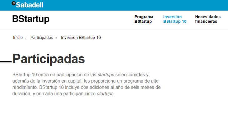 Nuevo fondo Sabadell Venture Capital