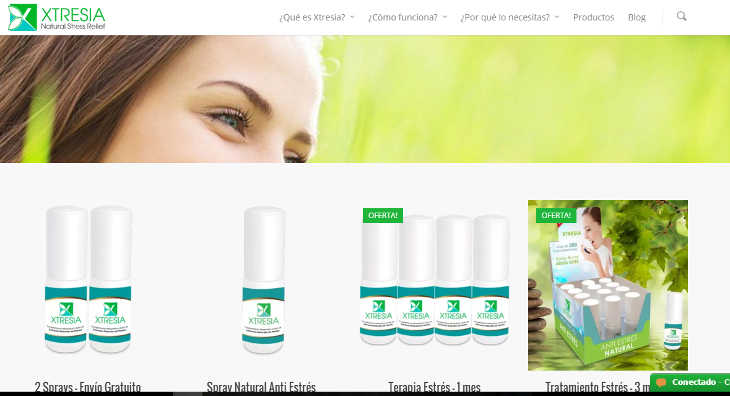 Xtresia, primer spray antiestrés