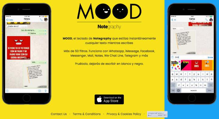 MOOD keyboard by Notegraphy