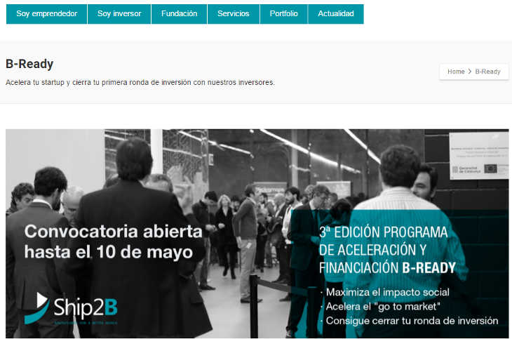 3ª edición de B-Ready con 1 millón de euros para invertir en startups