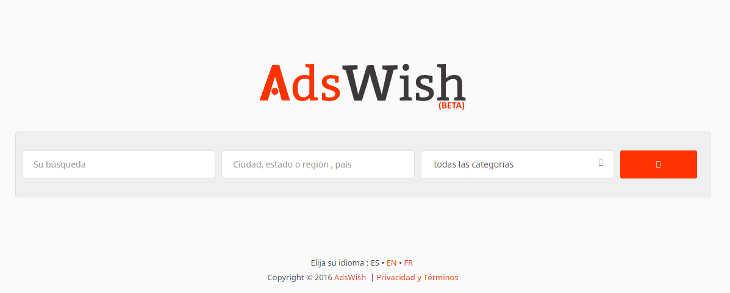 Posición de Adswish en los clasificados en España