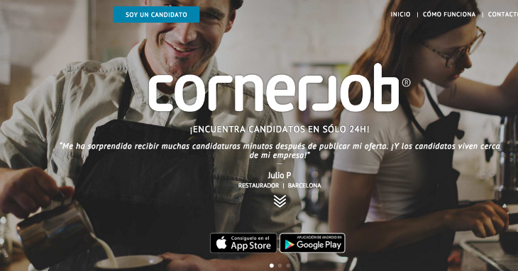10 millones de dólares de inversión en CornerJob