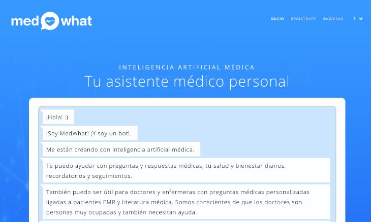 Medwhat utiliza la Inteligencia Artificial para crear un asistente médico virtual