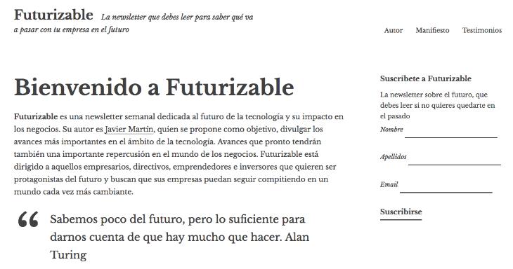 Futurizable: la newsletter sobre el futuro de la tecnología y los negocios