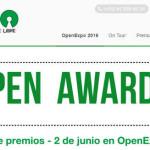 Primera edición de Open Awards en OpenExpo 2016
