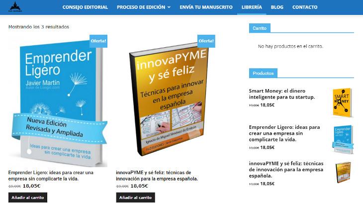 Nuevo proyecto: editorial de libros de empresa en papel