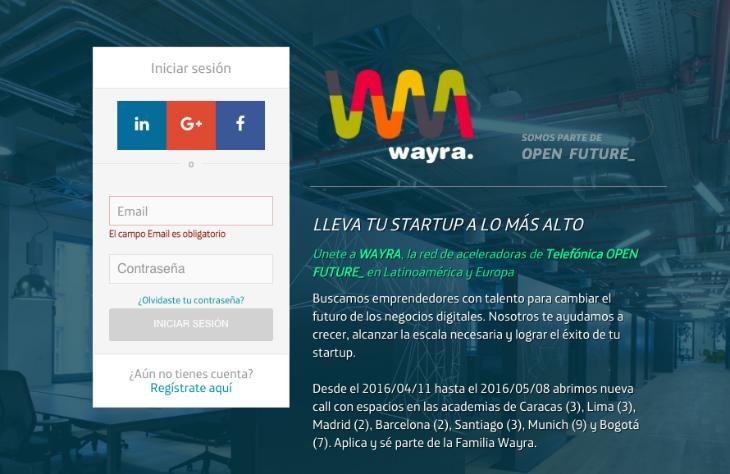 Se pone en marcha una nueva convocatoria de Wayra