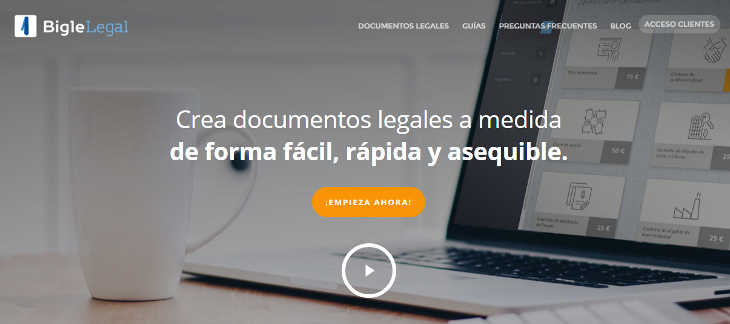 Bigle Legal para crear documentos legales a medida