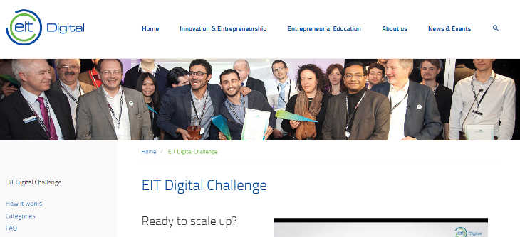 Convocado EIT Digital Challenge para aceleración europea de startups