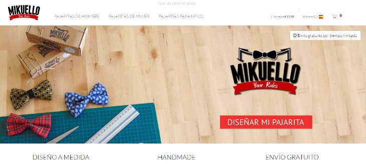 Mikuello, ecommerce de pajaritas personalizadas