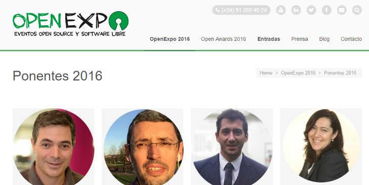 Ponentes confirmados para OpenExpo 2016