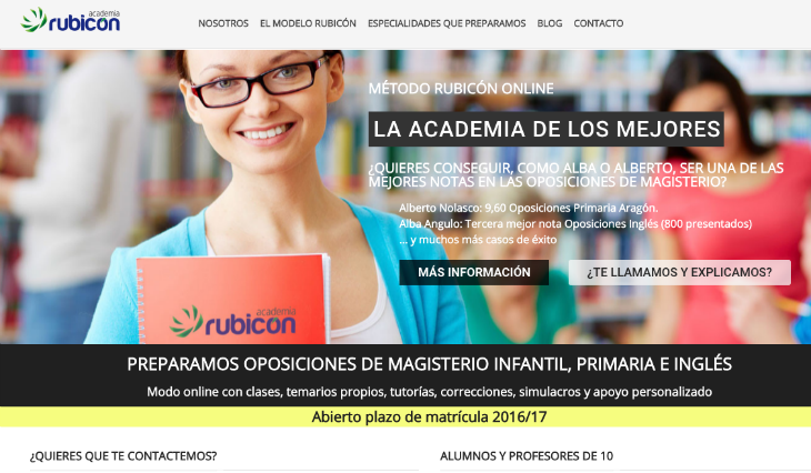 Academia Rubicón innova en la preparación de oposiciones de magisterio