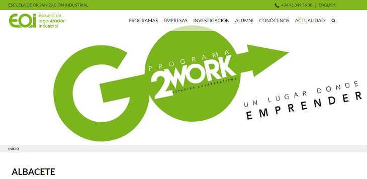 Coworking EOI, convocatoria Albacete y 27+ Talleres, tutorías y mentores