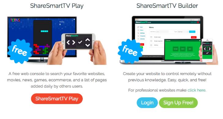 ShareSmartTV ofrece una nueva forma de crear sitios web