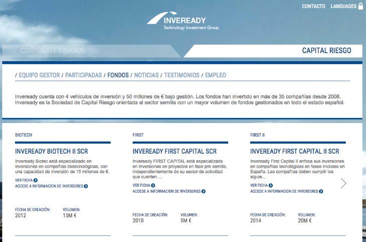 Nuevo fondo de Inveready enfocado a empresas de base tecnológica