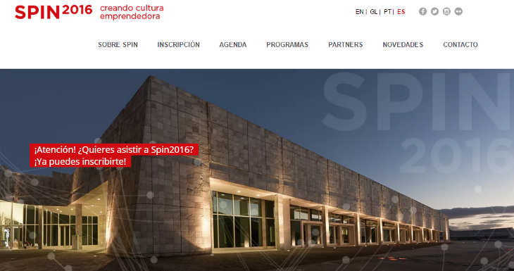 Invitación para inversores: Spin2016, startups en Santiago de Compostela