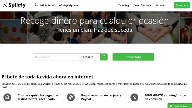 Splitfy, nueva app de pagos colaborativos