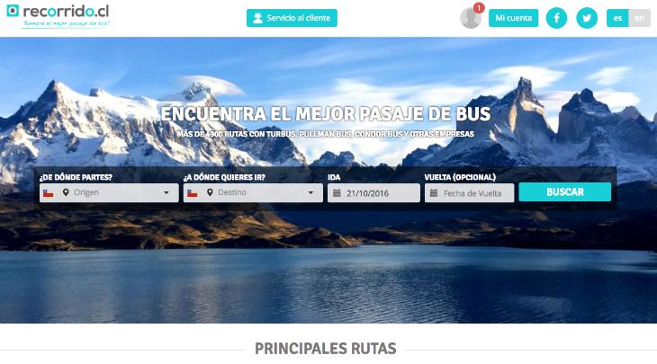 600.000 dólares de inversión en la startup chilena Recorrido.cl