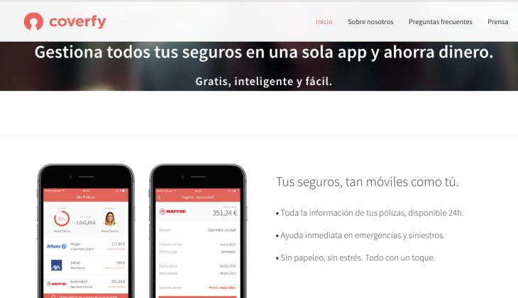 750.000 euros de inversión en la startup de insurtech Coverfy