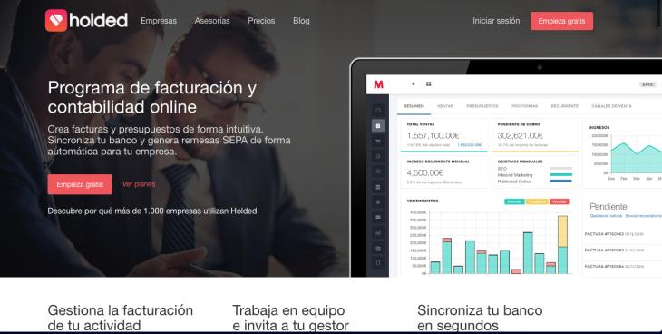 275.000 euros de inversión en la startup de facturación online Holded