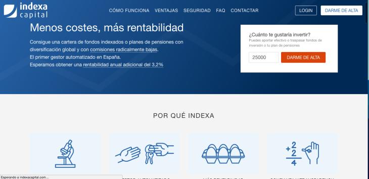 1 millón de euros de inversión en Indexa Capital