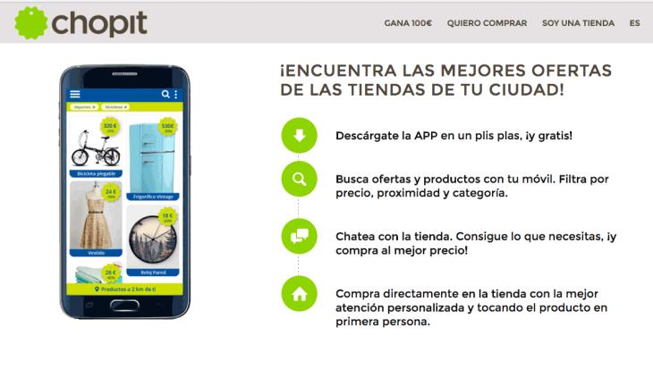 300.000 euros de inversión en la startup de comercio local Chopit