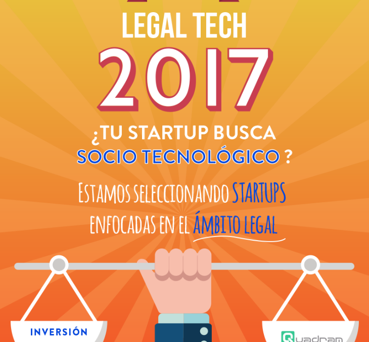 Quadram Mobile Ventures quiere apoyar un proyecto Legal Tech