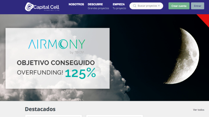 Descubre la plataforma de equity crowdfunding Capital Cell