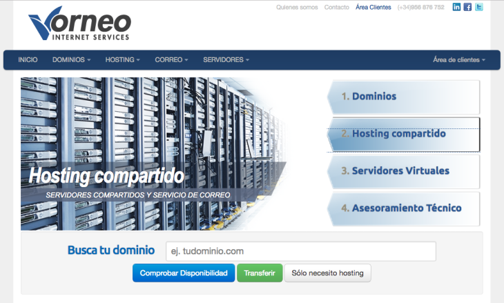 Tecnocrática Centro de Datos compra la empresa de hosting Vorneo