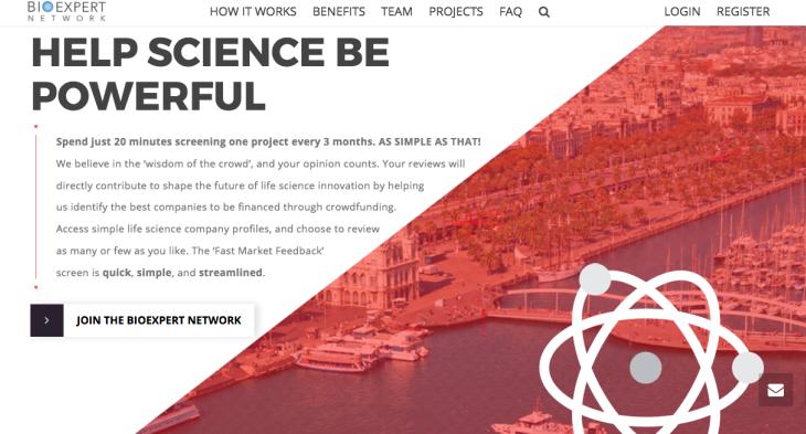 Crowdsourcing para ayudar a emprendedores en BioExpert Network