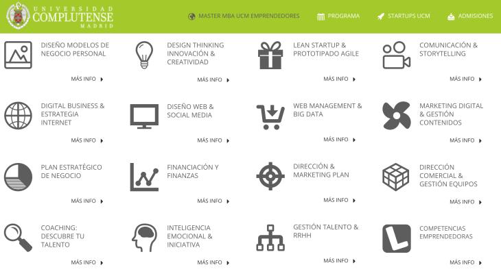 Formación para emprendedores de la Universidad Complutense de Madrid