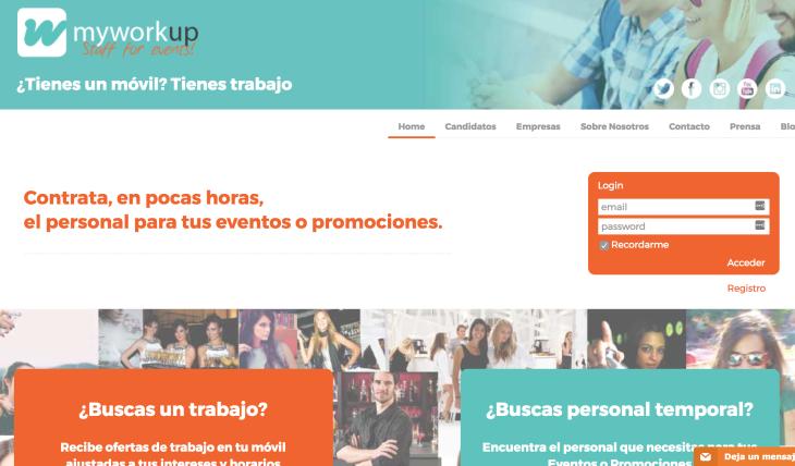 La startup myWorkUp aspira a facturar 1 millón de euros en 2017