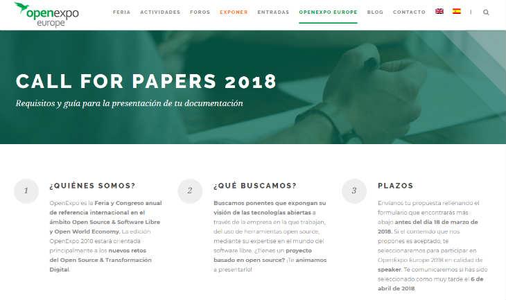 Open Expo 2018 abre la solicitud de ponencias