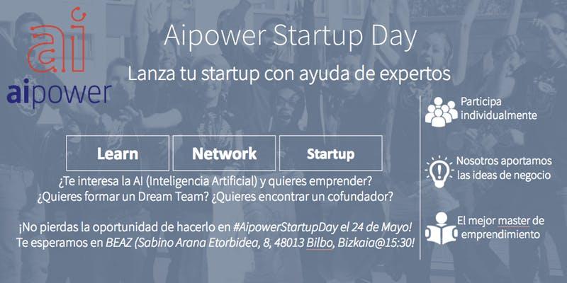 Aprende&Emprende Aipower Startup Day en Bilbao