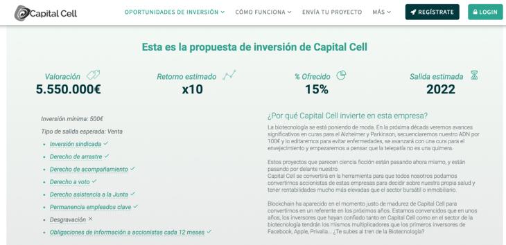 Capital Cell realiza una autoronda para crear el primer marketplace de ICOs de salud
