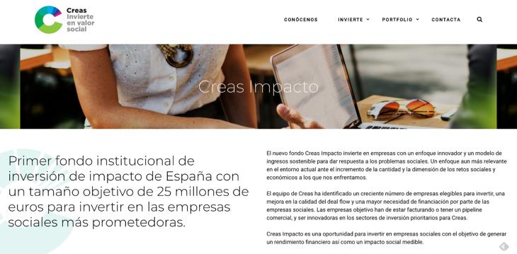 Creas Impacto, el nuevo fondo de impact investing