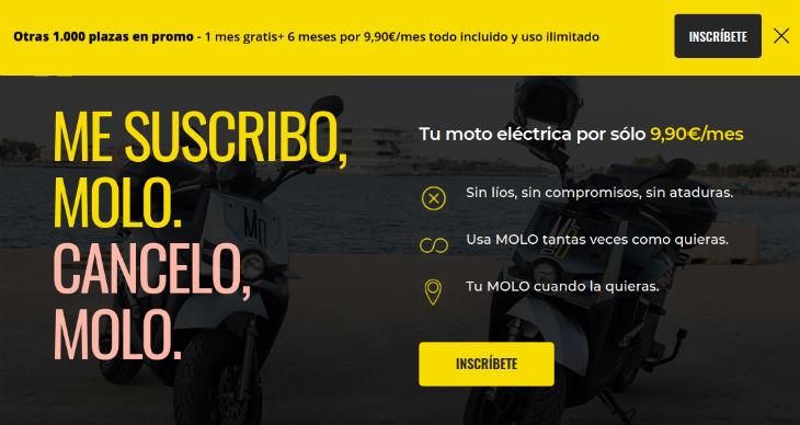 Molo (motos eléctricas compartidas) cierra una ronda de inversión de 3,5 millones de euros
