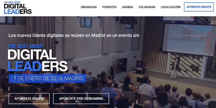 Evento The Next About Digital Leaders el 17 de enero en Madrid