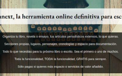Pre-lanzamiento de Scriptanext.com, la herramienta para escritores y autores