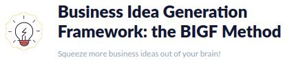 BIGF: la ayuda que necesitas para generar nuevas ideas de negocio