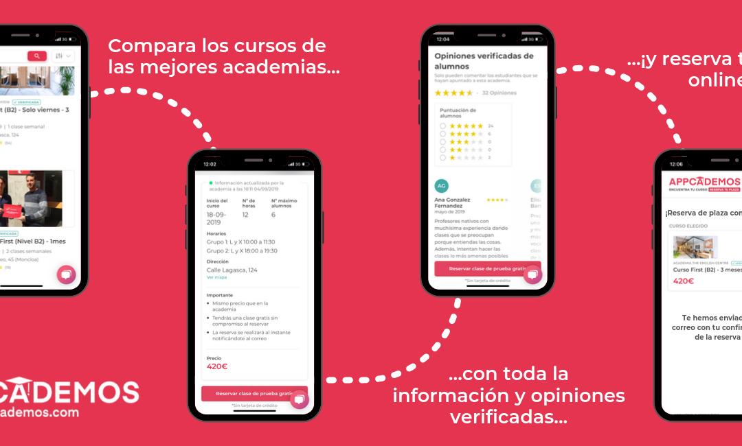 Appcademos quiere cambiar la forma en la que nos apuntamos a academias de idiomas