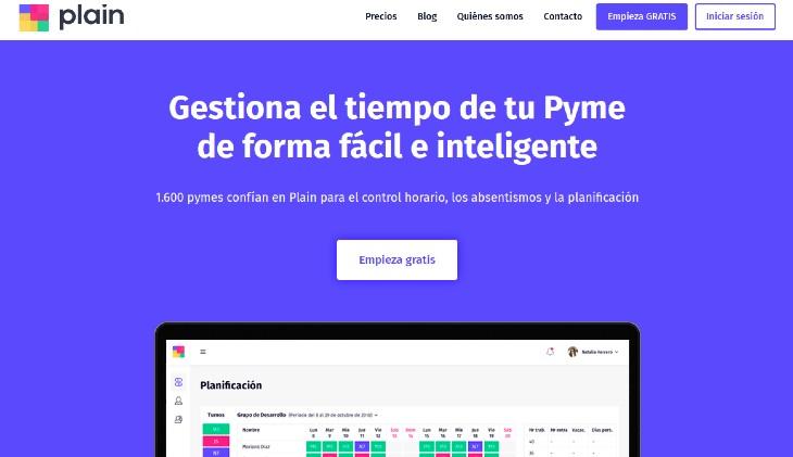Plain, control horario y planificación de turnos para Pymes