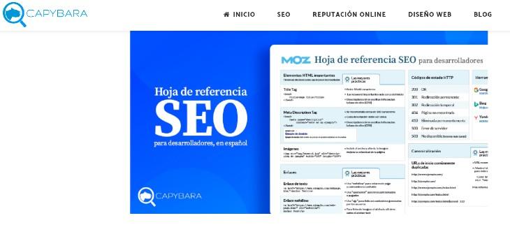 Referencia SEO para Desarrolladores de MOZ, en español