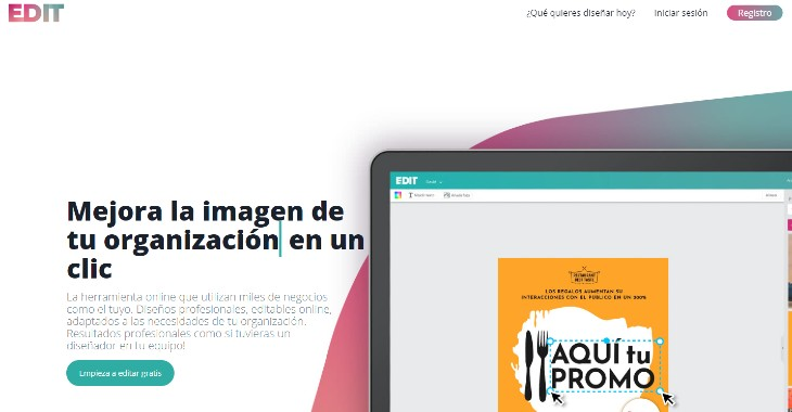 Edit, tu asistente de diseño gráfico online